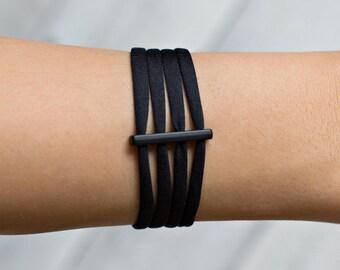 Black Bracelet | Yoga Bracelets | Simple Bracelet | BFF Bracelet | Inspirational Bracelets | Positive Jewelry | Minimalist Bracelet