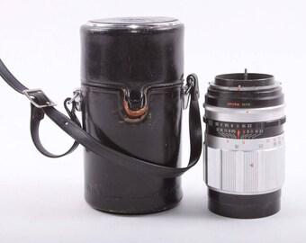 Petri Camera Co., Lense, Leather Case, f=135mm, Vintage Lens, Clean Lens, Case, Black Leather ~ The Pink Room ~ 170409