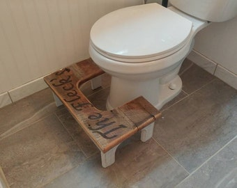 Custom Engraved Hommade Squat-2-Pot. Rustic Distressed and Reclaimed Barn Wood.