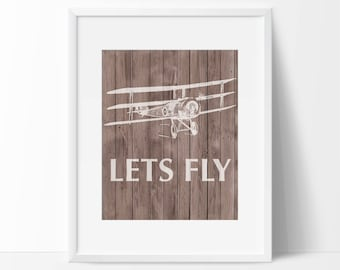 Airplane Art Print - Aviation Decor- Home Decor - Office Decor - Wall Art