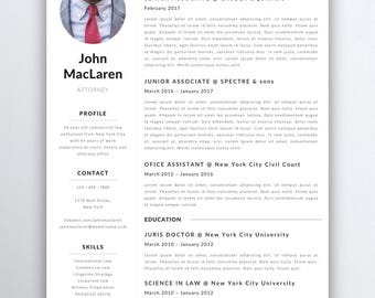 Professional Resume Template - Lawyer Resume - Legal Resume Template - Attorney Resume Template - Paralegal Resume - Assistant Resume