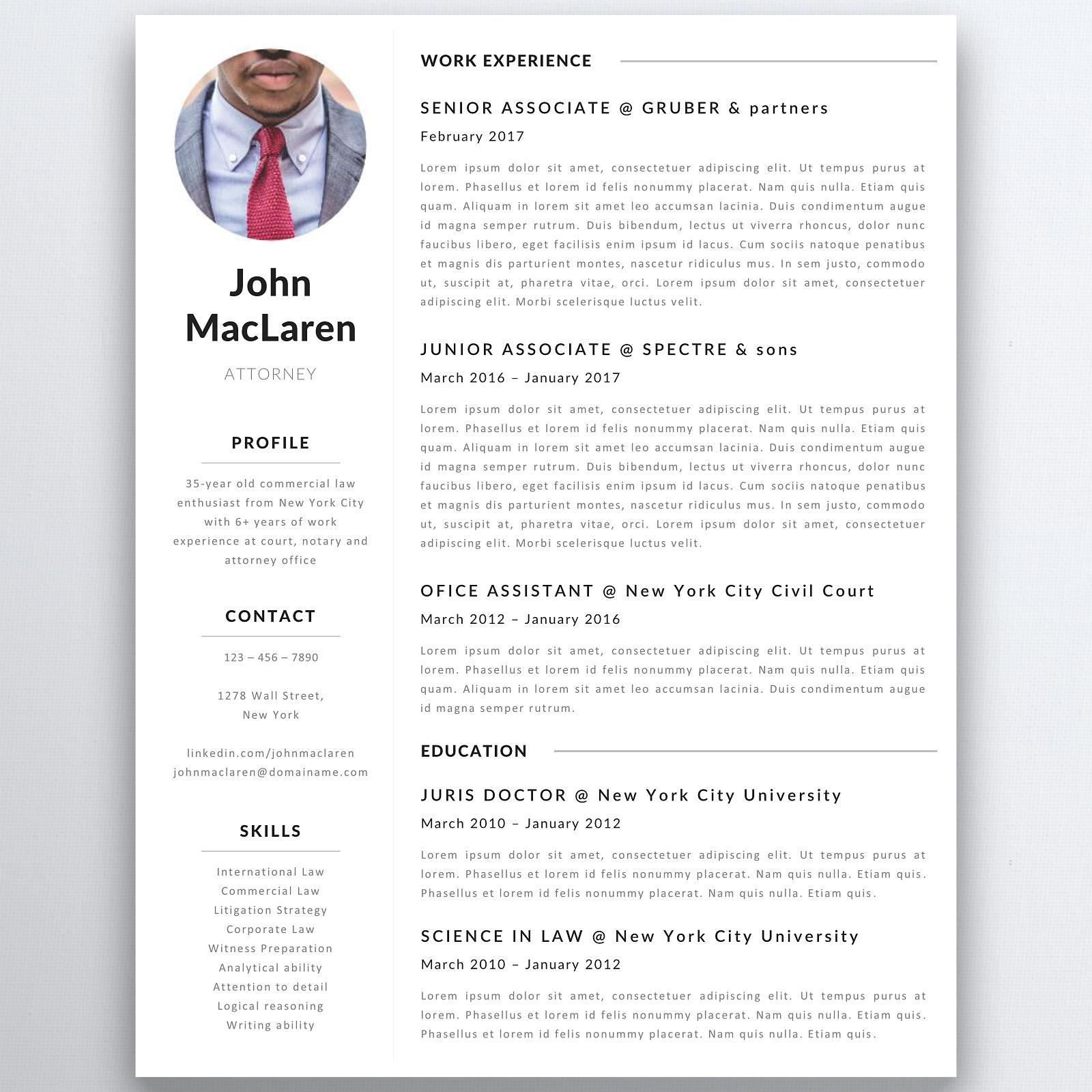 Professionellen Lebenslauf Vorlage Rechtsanwalt Lebenslauf