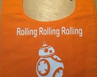 BB-8 Rollin' Rollin' Handmade Baby Bib