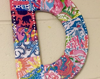 """Lilly Pulitzer letters 12"""""""