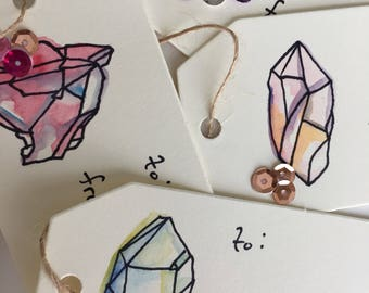 Crystal Gift Tags (set of 4)
