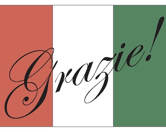 how to say thanks in italiano