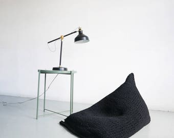 Hand Knitted Stockinette Wedge Bean Bag