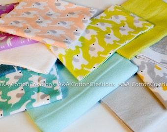 Stash Builder Scrap Pack, 20% off Organic Flannel Cotton Fabric, Cloud9/Birch Organics, Designer Fabric #21