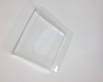 QTY 50 Ultra Clear Bags Inserts for 4 x 4 x 9 Inch Flat Bottom Bags - INSERTS ONLY