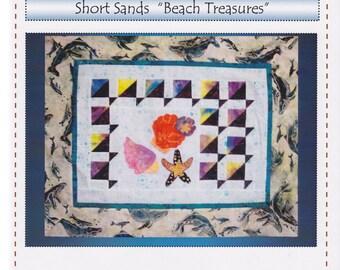 Beach Treasures, Robin's Quilt Nest, Short Sands Block of the Month Quilt Pattern Series, Block 1, Starfish & Shells