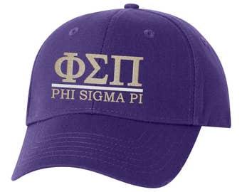 Phi Sigma Pi, Pi Phi, casquette de baseball Phi Sigma Pi, chapeau Pi Phi, chapeau Phi Sigma Pi, sororité chapeau, cadeau de sororité grand, petit, cadeau de grec