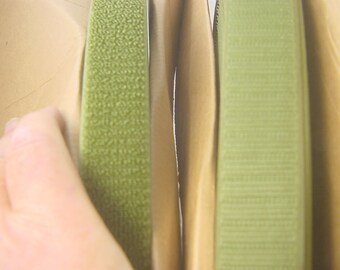 """hook + loop tape olive green both sides sew on Perfect brand 1"""" x 50yds 4539P."""