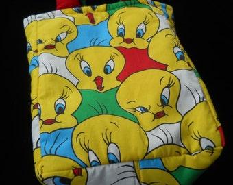 Tweety Bird Library Books Tote Bag