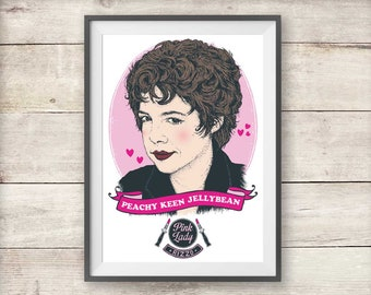 Rizzo - Grease Movie Poster - Peachy Keen Jellybean - Birthday - Friendship - Christmas Gift