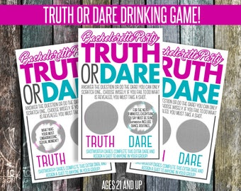 Bachelorette Party Game, Scratch Off Truth or Dare with Shotworthy Dares!  - SCC02