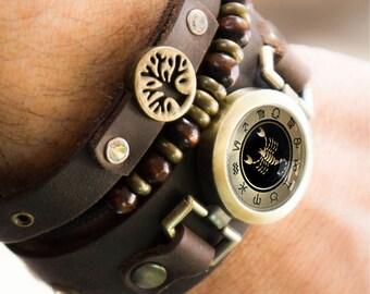 Scorpio Bracelet with Tree of Life