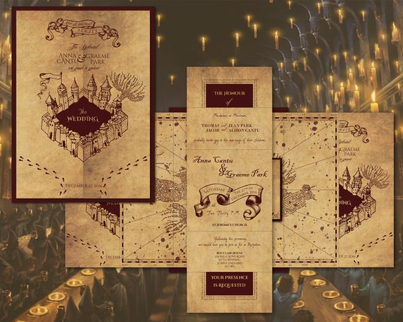 etsy marauders map wedding invitations 28 images printable