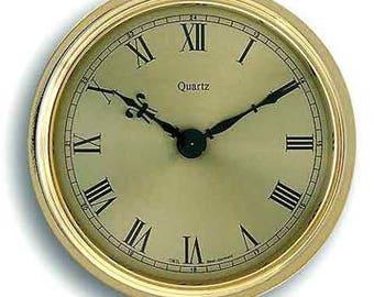 Brass-Look Clock Movement / Insert ø108mm