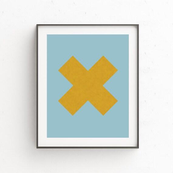 Geometric Print Cubicle Decor Scandi Poster Cubicle Decor