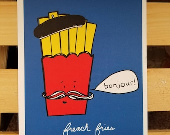 French Fries- 5 x 7 Card