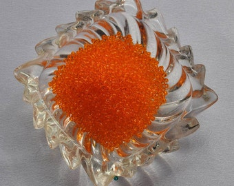 Transparent Orange Japanese Seed beads,