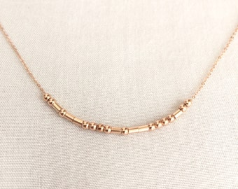 Rose Gold Morse Code Necklace, Sister Necklace, Secret Message, Hidden Message, Rose Gold Filled Necklace, Mother Necklace, Best Friend Gift