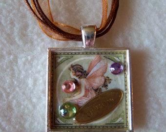 Dream Collage Pendant Necklace No.22