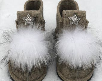 Valenki, Felt Shoes, Felt Boots, Wool shoes, Winter boots, Wintwr shoes, Warm shoes, Warm boots.