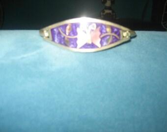 Purple Cloisonne Butterfly Bracelet