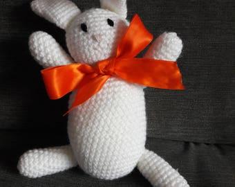 Crocheted White Rabbit
