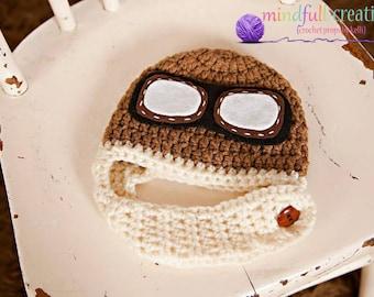 Newborn Aviator Hat