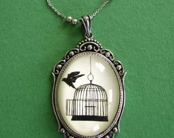 BACK WHERE you BELONG Necklace, pendant on chain - Silhouette Jewelry