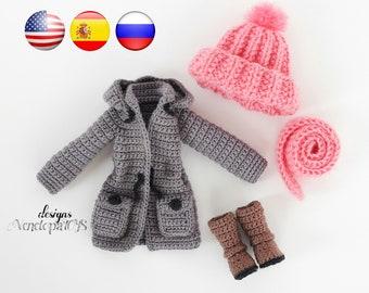 Pattern - (ONLY CLOTHES) Doll Vanessa, amigurumi crochet doll, crochet doll pattern, amugurumi pattern, pdf pattern