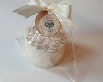 Lavender essential oil candle