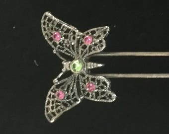 Vintage butterfly hair pin
