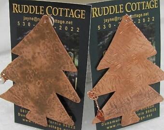 Copper Christmas Tree Ornaments. Christmas Tree Ornaments. Xmas Ornaments. Tree Charms.