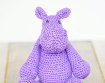 Hippo, Crochet Animals, Made to Order, Handmade Toys, Stuffed Animals, Amigurumi Hippo, Handmade Crochet Toys, Livlandiawithlove