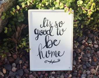 Its so good to be home  watercolor painting