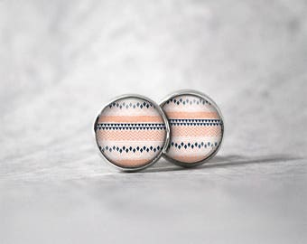 Earrings cabochon 10 mm / patterns