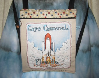 Cape Canaveral Shuttle/Hand Painted Backpack