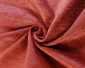 """Luxury Red 100% Polyester Fire Resistant Velvet Fabric for Upholstery Heavy Weight Curtain Drapery FR Material Sold by The Yard 54"""" Wide"""