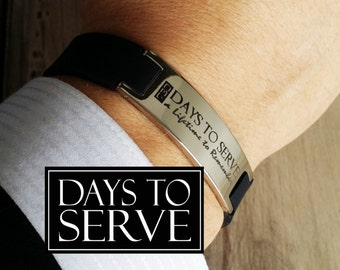 LDS Missionary Bracelet, LDS Missionary Gift, 730 Stainless Steel Energy Bracelet - Comfort Fit, Days to Serve