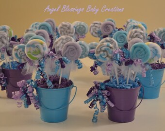 Baby Shower Centerpiece, Baby Washcloth Lollipop Favors, Baby Girl, Boy, Or  Gender Neutral, Table Decor, Baby Shower, Gender Reveal Party