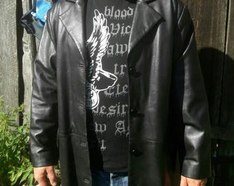 Black Leather jacket Size:XL