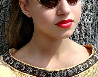 Cat Eye Sunglasses, Bronze Color, Aluminum Glasses, Artscraft Glasses,50s Sunglasses, 1950s Sunglasses, Rockabilly Glasses, Pin Up Glasses