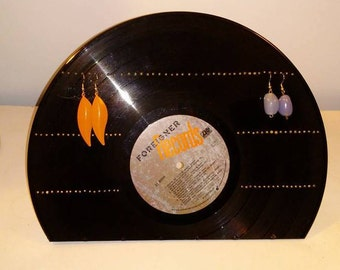 Record Earring  Display Rack made from Foreigner record Free Shipping