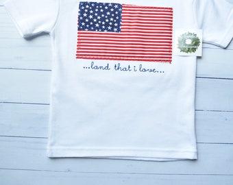 Boys American Flag Applique Shirt, Boys July 4th Shirt, Boys Memorial Day Shirt, Boys Labor Day Shirt, Boys Patriotic Shirt, American Flag