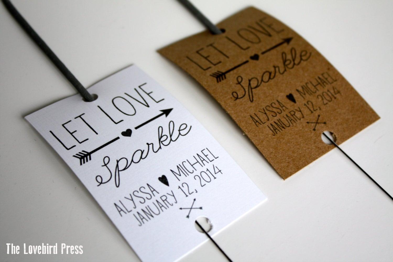 Wedding Sparkler Send Off Tags Printable Sparkler Tag