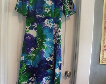 Markdown!! Beyond Cool 60's Tori Richard Psychedelic Floral Maxi Dress