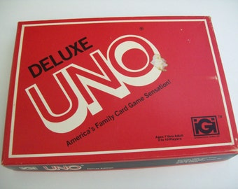 Vintage Deluxe Uno Card Game-A Fun Family Card Game, 1979 Edition